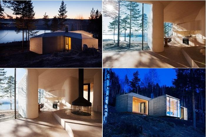 Cabin - особняк на берегу озера в Норвегии.