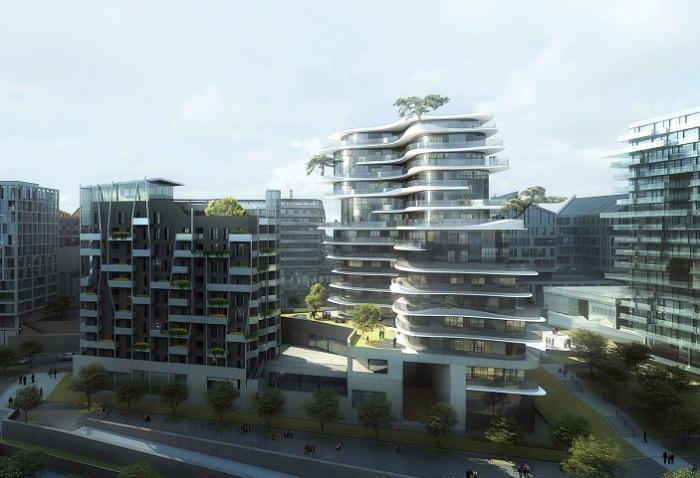 Проект жилого здания ан севере Парижа.