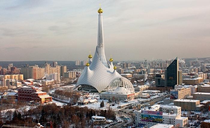 Проект православного храма в Екатеринбурге, перестроенного из старой телебашни.