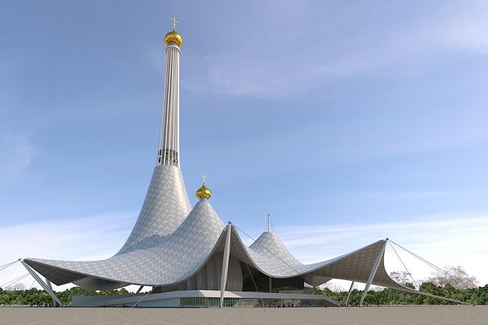 Футуристический концепт храма в Екатеринбурге.
