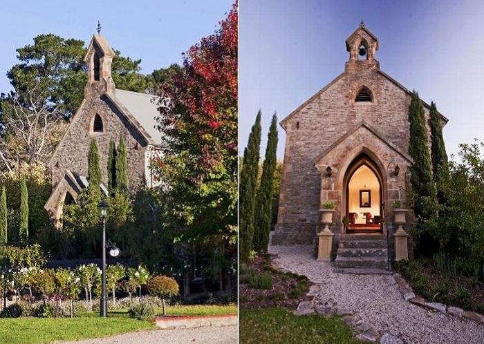 Церковь, реконструированная под жилой дом.