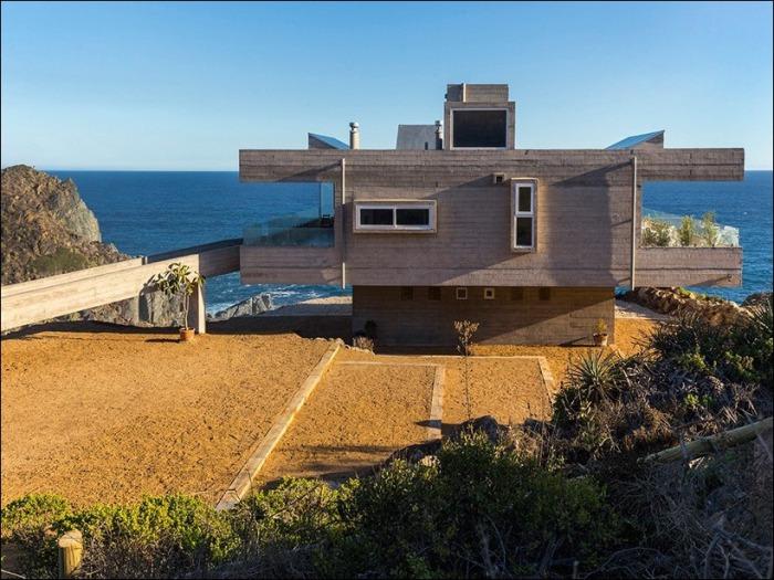 Casa Mirador. Минималистичный дом.