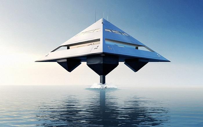 Концепт необычной яхты от британского дизайнера и архитектора Jonathan Schwinge.