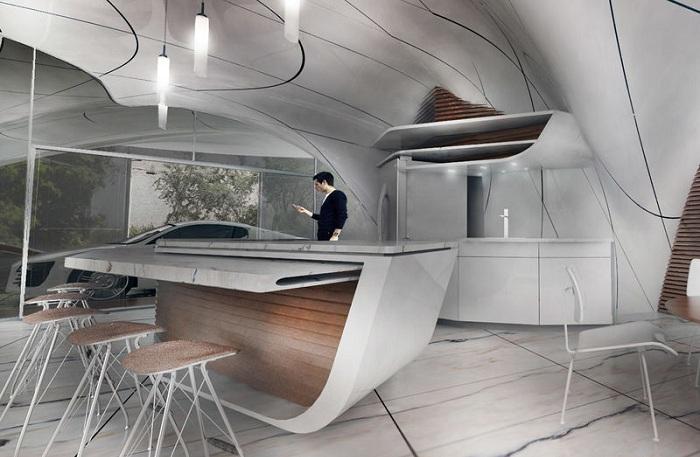 Кухня в доме Curve Appeal.