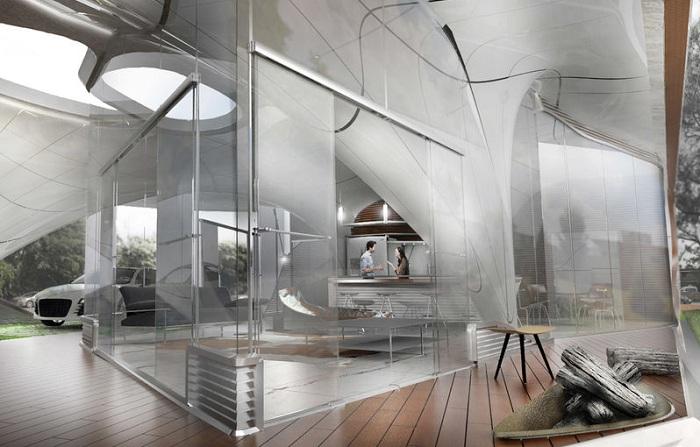 Дом, который напечатают на 3D-принтере.