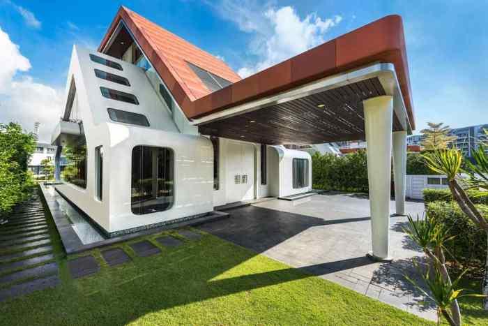 Villa Mistral - оригинальный особняк в Сингапуре.