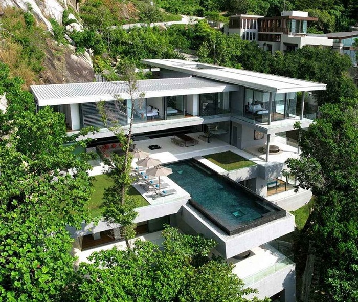 Villa Amanzi - многоуровневый особняк в Пхукете.