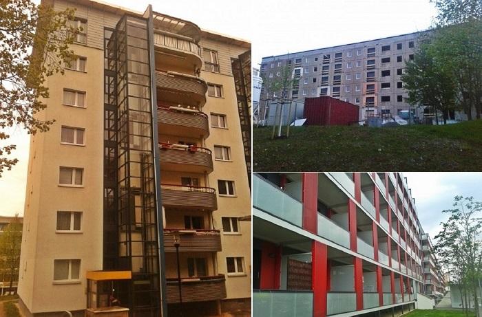 Обновленные панельные дома в Германии.