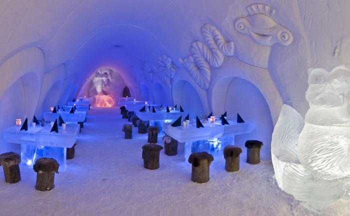 Kemi - ресторан изо льда и снега в Финляндии.