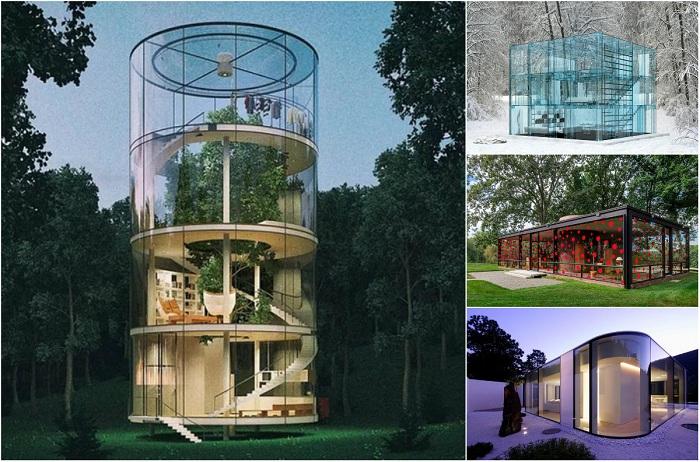 Разнообразие стеклянных домов.