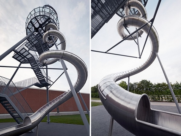 Строение башни Vitra Slide Tower.