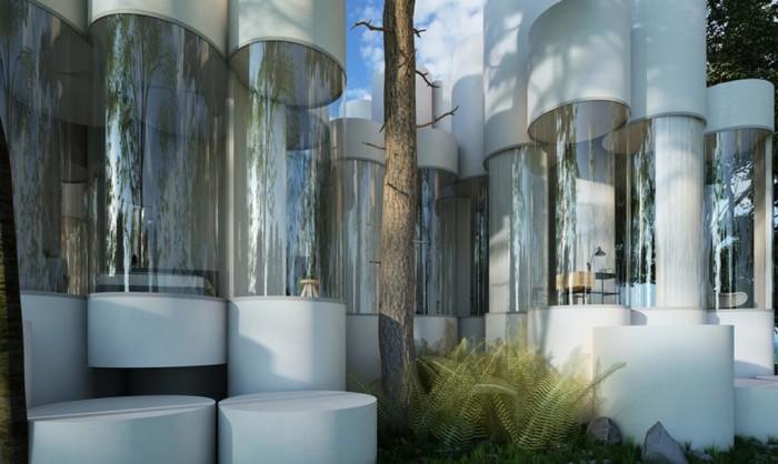 Cylinder House - дом из модульных цилиндров.