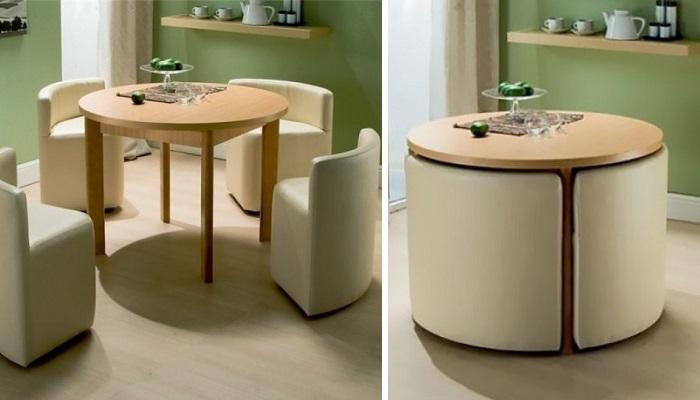 Эргономичная мебель для экономии пространства.