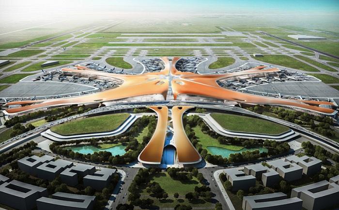 Beijing new airport terminal building - будущий аэропорт с самым большим терминалом в мире.