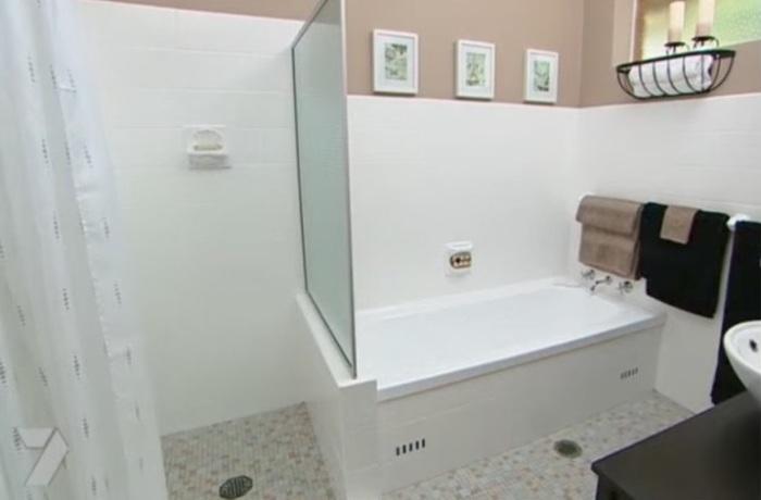 Так выглядит ванная после ремонта.