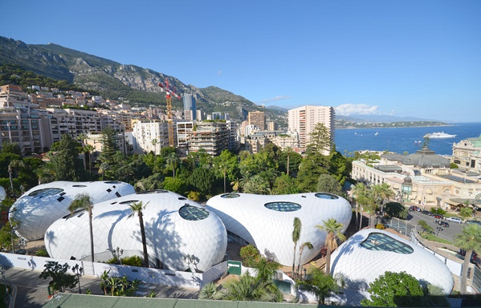 Крытые павильоны в Монте-Карло.