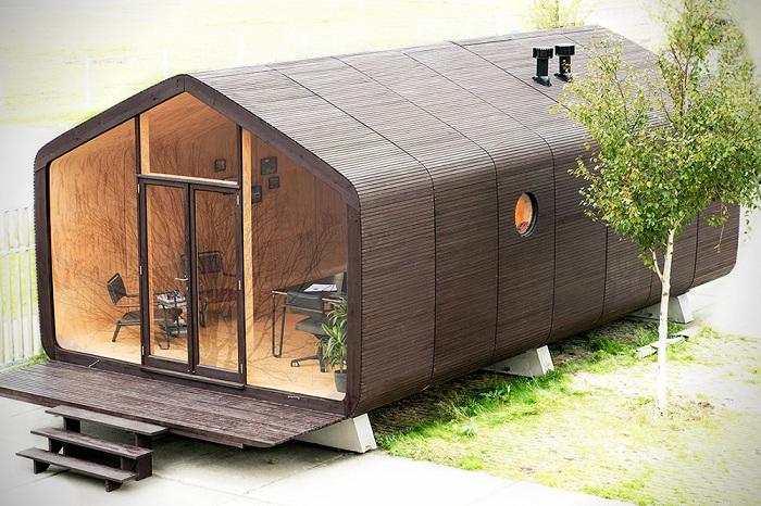 Wikkelhouse - дом из гофрированного картона.