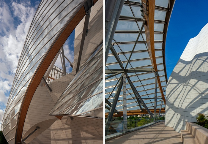 «Fondation Louis Vuitton». Вид изнутри.