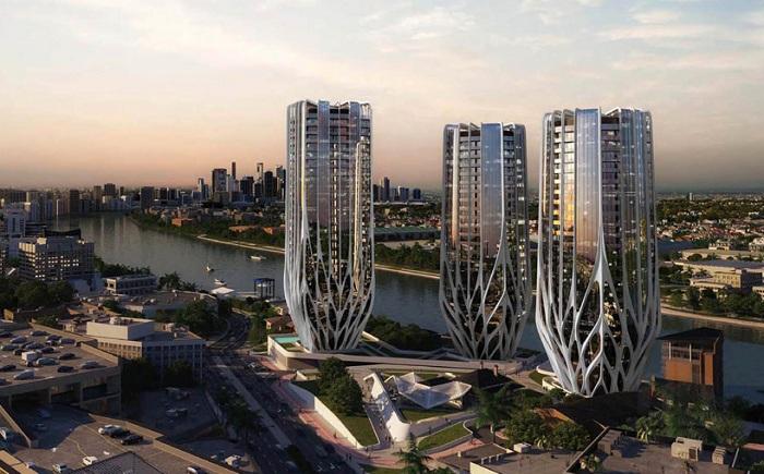 Жилой комплекс, спроектированный Захой Хадид.