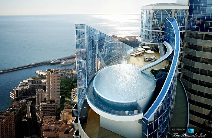 Круглый бассейн в самом дорогом в мире пентхаусе The Sky Habitat.