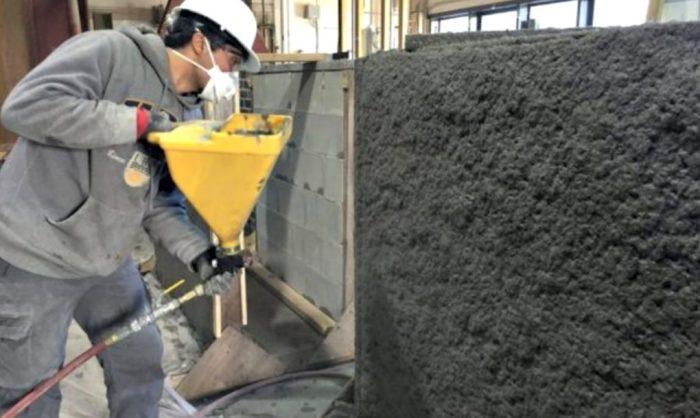 Обычный бетон покрывают слоем EDCC для придания дополнительной прочности.