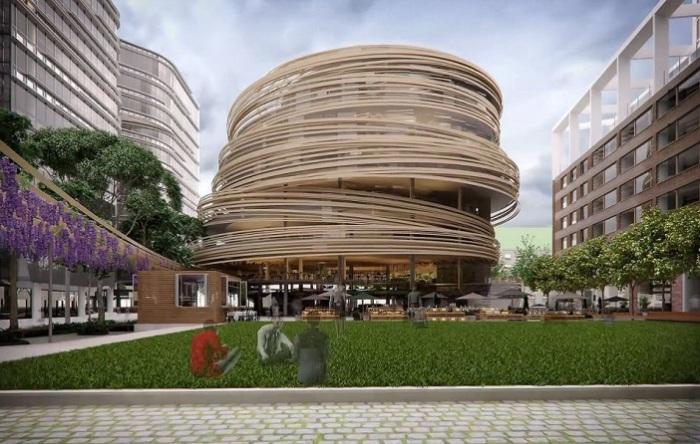 Проект библиотеки архитектора Kengo Kuma.