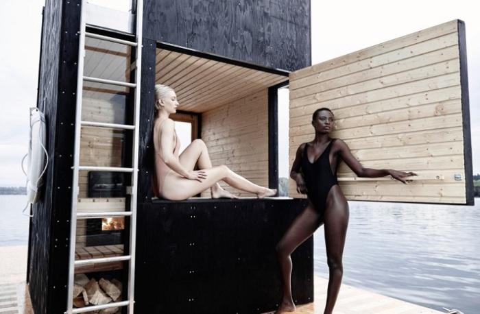 Плавучая сауна Wa_sauna.