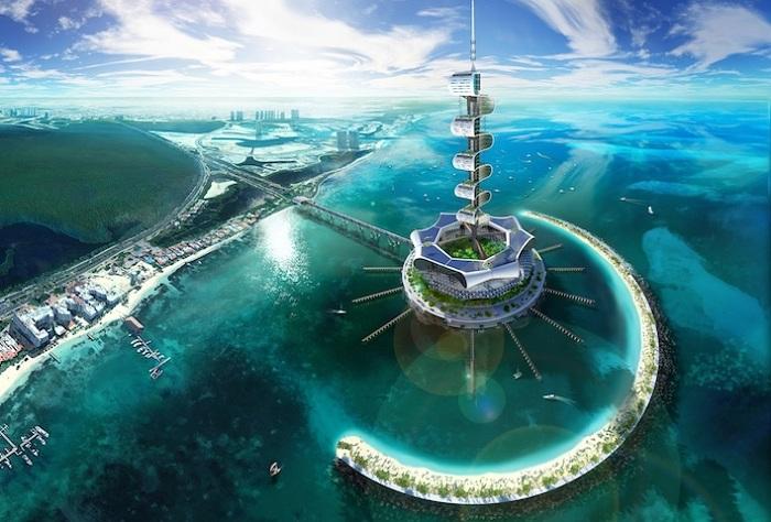 Grand Cancun - концепт грандиозной экоплатформы.