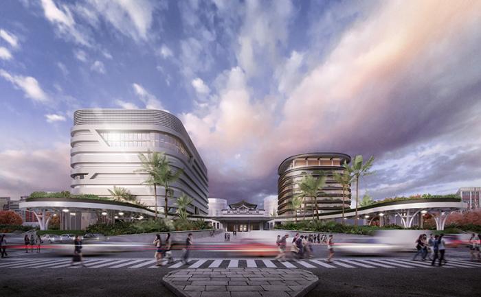 Проект модернизации железнодорожной станции в Гаосбне (Тайвань).