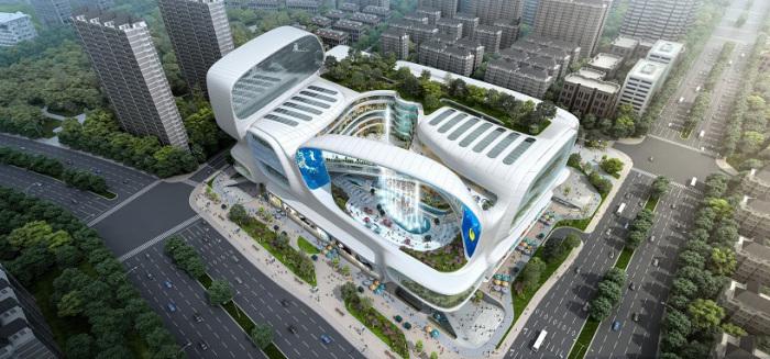 Торговый центр в Китае. Озеленение.