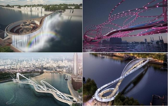 Самые оригинальные проекты моста через Темзу.