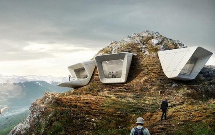 Музей MMM Corones, спроектированный Захой Хадид.