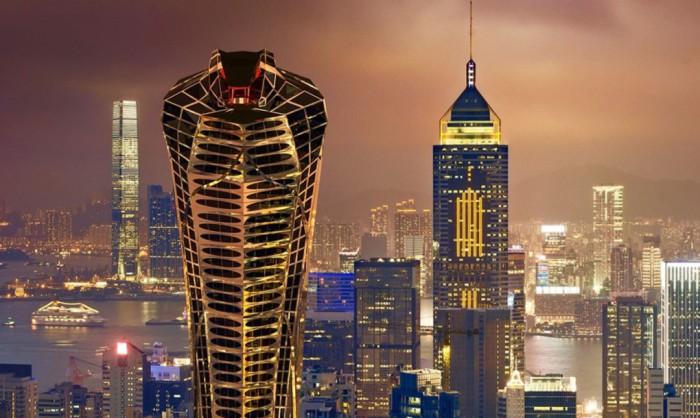 Проект небоскреба в виде кобры от российского архитектора Василия Клюкина.