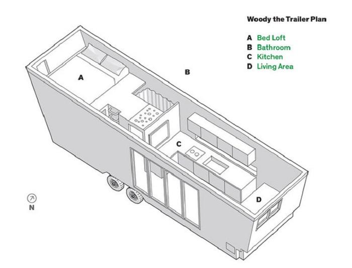 Мобильный дом Woody. План.