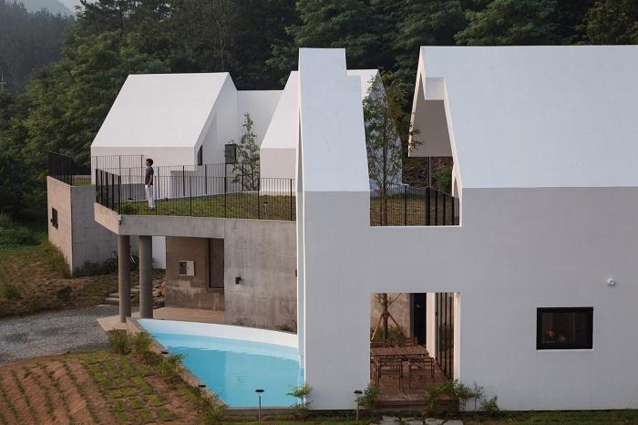 Baomaru House. Фасад дома.