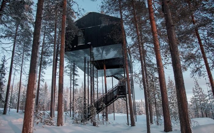 The 7th Room - дом, расположенный на высоте 10 метров.