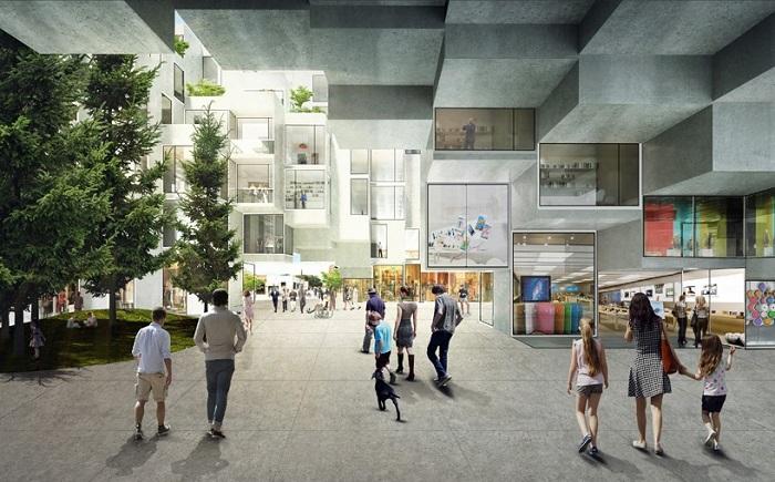 На террасах комплекса King Street West будут высажены зеленые растения.