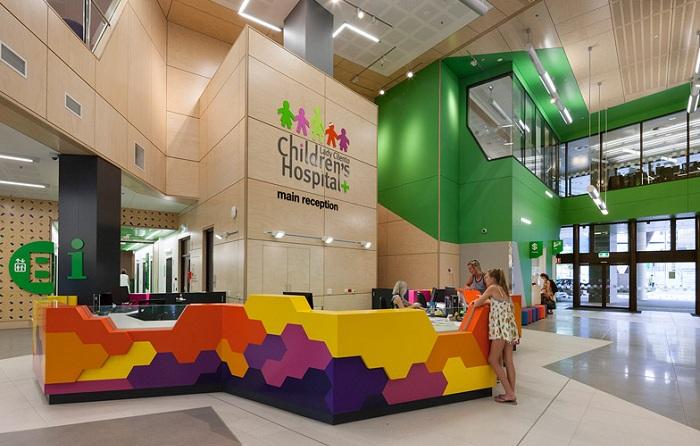 The Lady Cilento Children's Hospital. Вид изнутри.