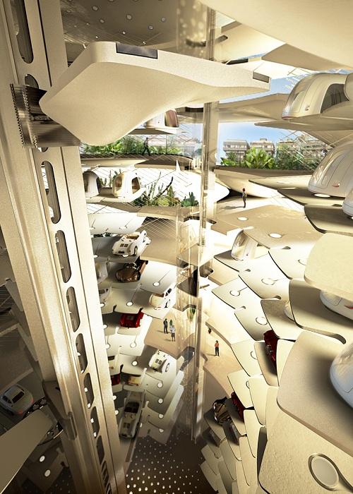 Gran-Mediterraneo. Многоуровневый автоматический паркинг.