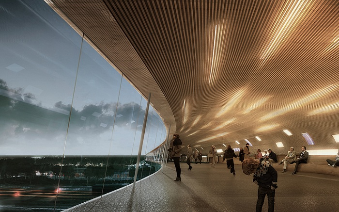 «Kоge North Station». Вид изнутри.