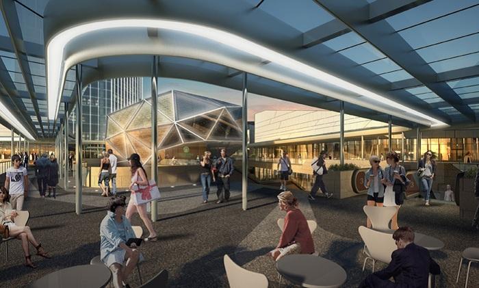 Внутренне оформление будущего торгового центра в Китае.