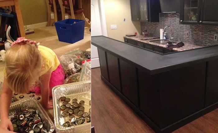 Мужчина 5 лет собирал крышки от пивных бутылок.