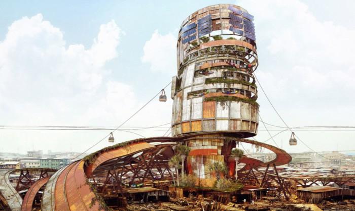 В центре города Лагос могут быть построены настоящие трущобы для бедных слоев населения.