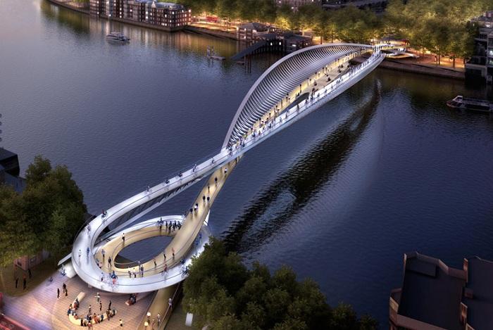 Футуристический проект будущего моста.