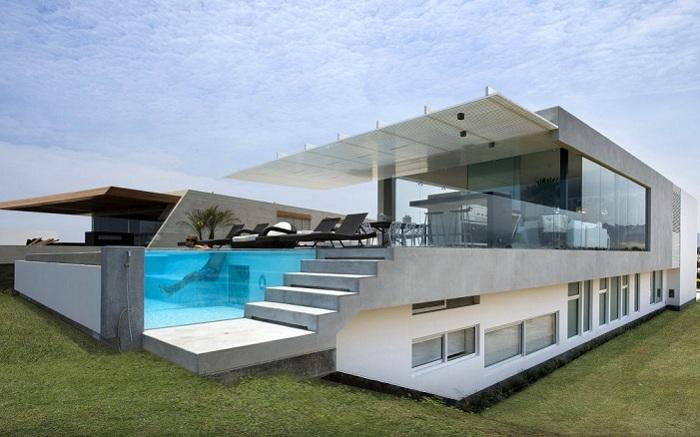 Casa V - особняк с четкими геометрическими формами.