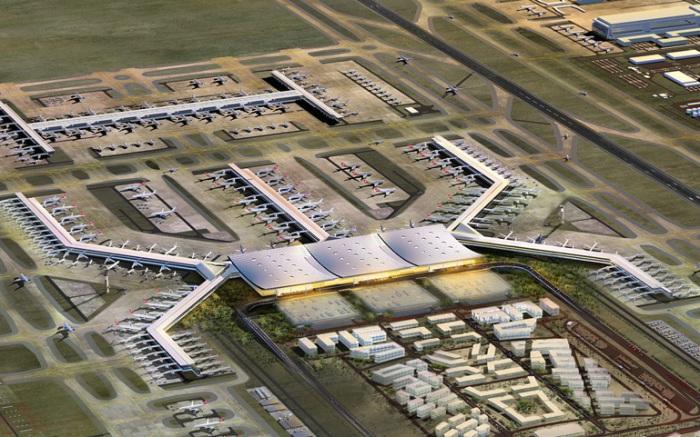 Самый большой аэропорт строится недалеко от Стамбула.