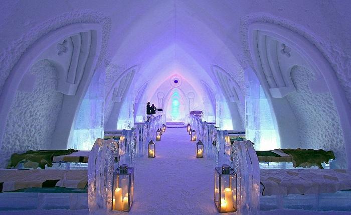 Единственный ледяной отель в Северной Америке.