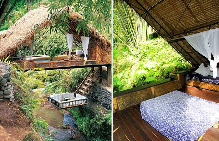 The Retreat Panchoran - вилла из бамбука на Бали.