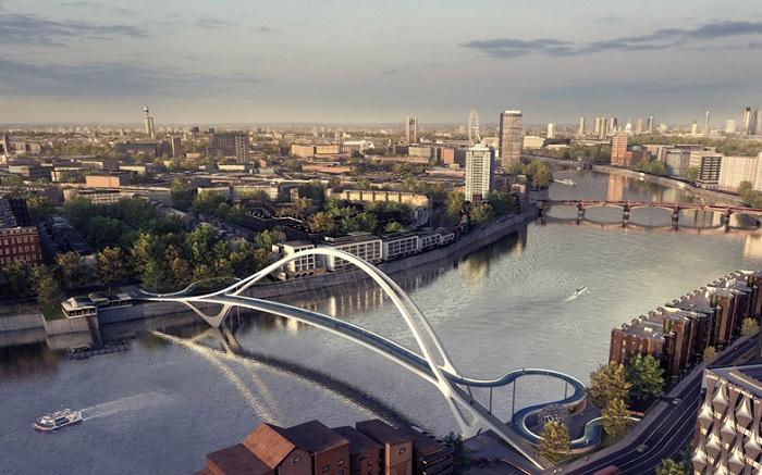 Проектов пешеходного моста в лондоне