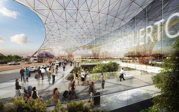 Внутренне оформление будущего аэропорта в Мексике.